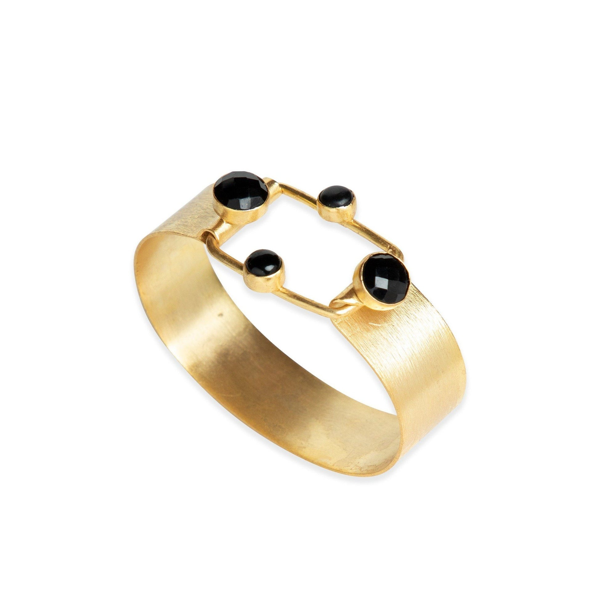 Verona one-size cuff in Black Onyx - cuff