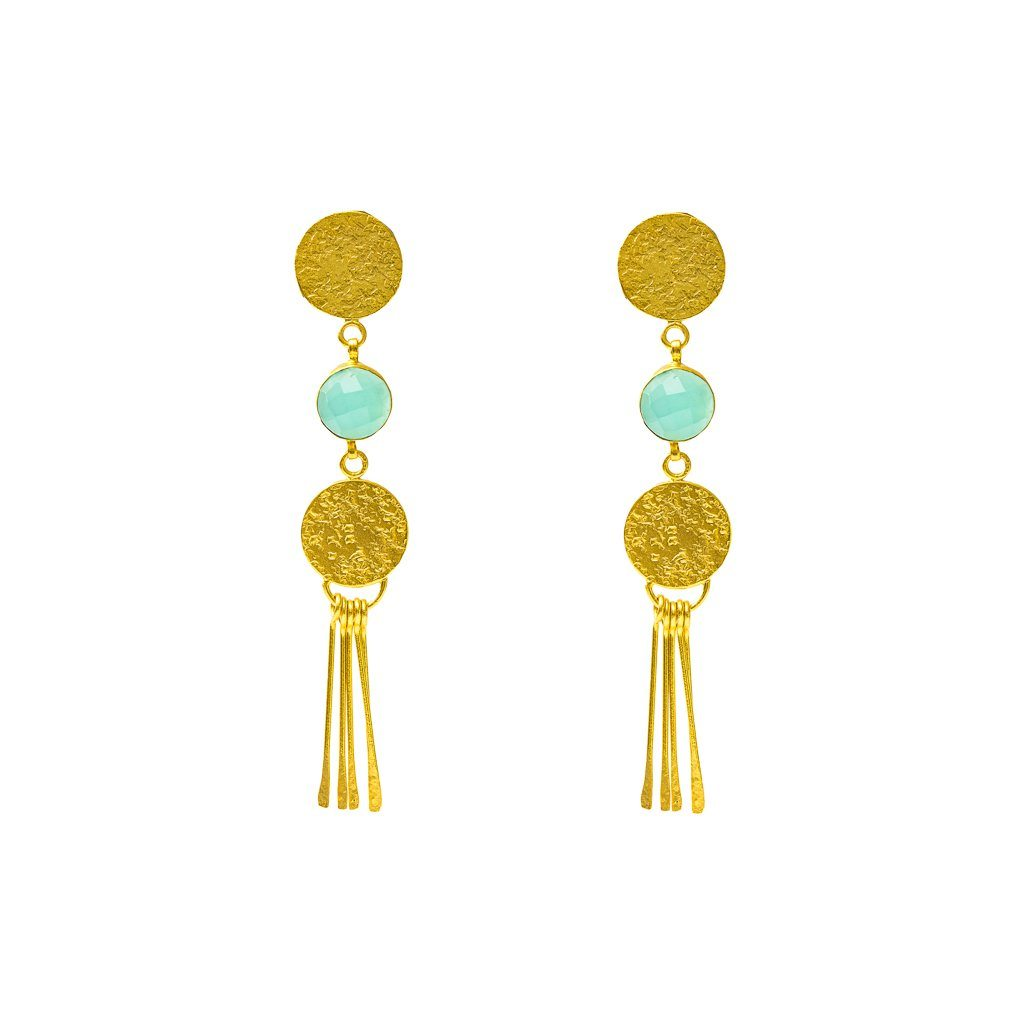Drops - Bea Studs In Aqua