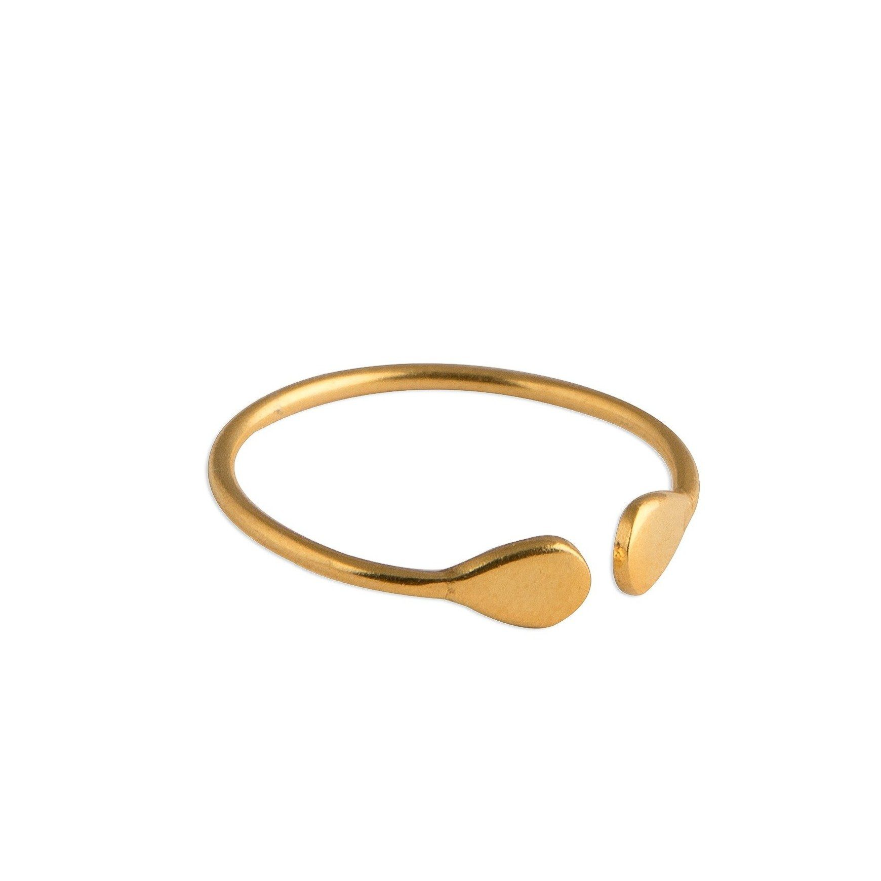 Meraki gold-plated silver ring - Ring