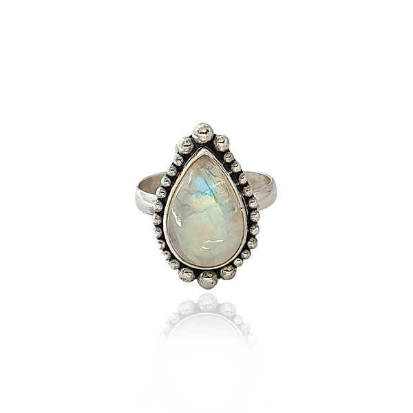 Bruges pear moonstone ring