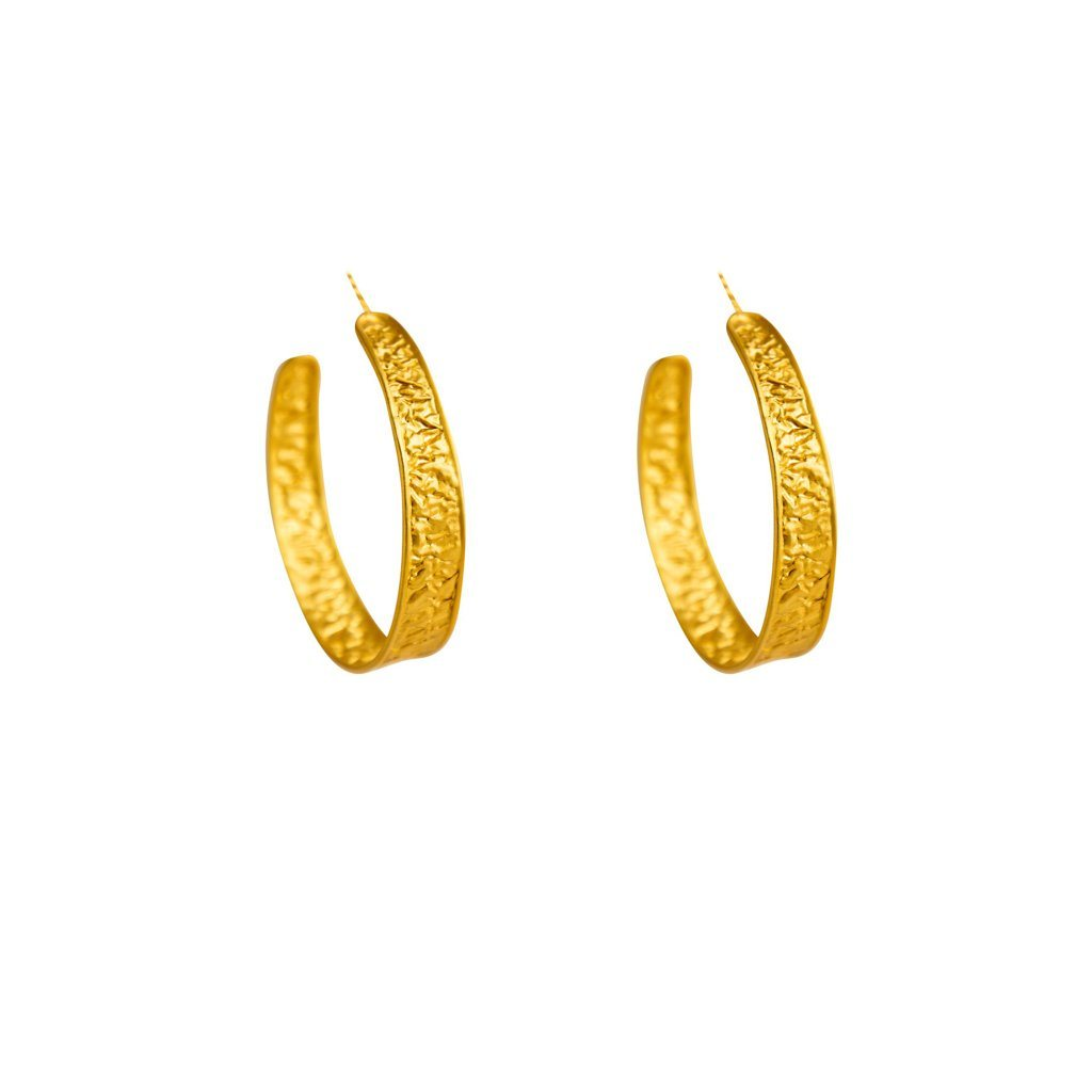 Imogen crushed paper hoops mini - Statement Pieces