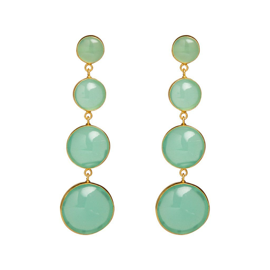 Vanessa statement earrings in aqua - Statement Pieces