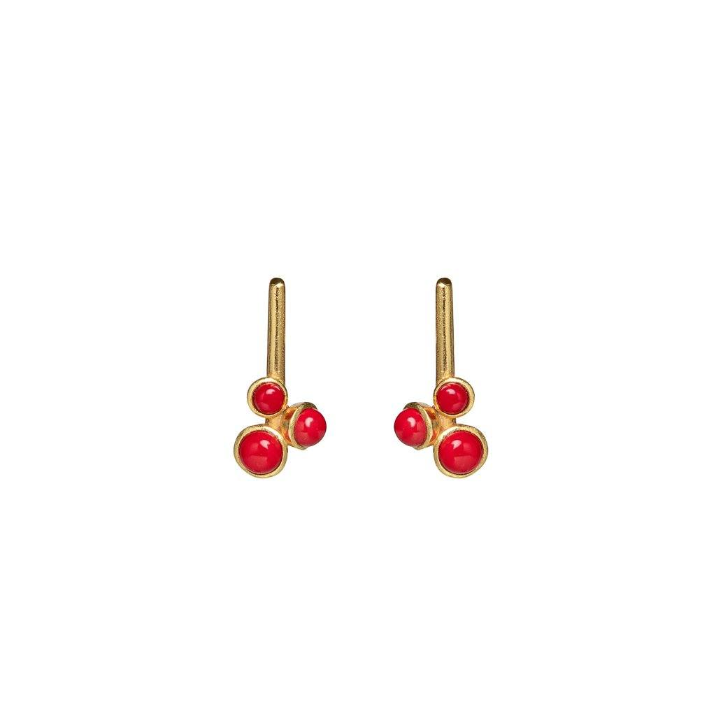Alexas mini stud earrings in coral - stud