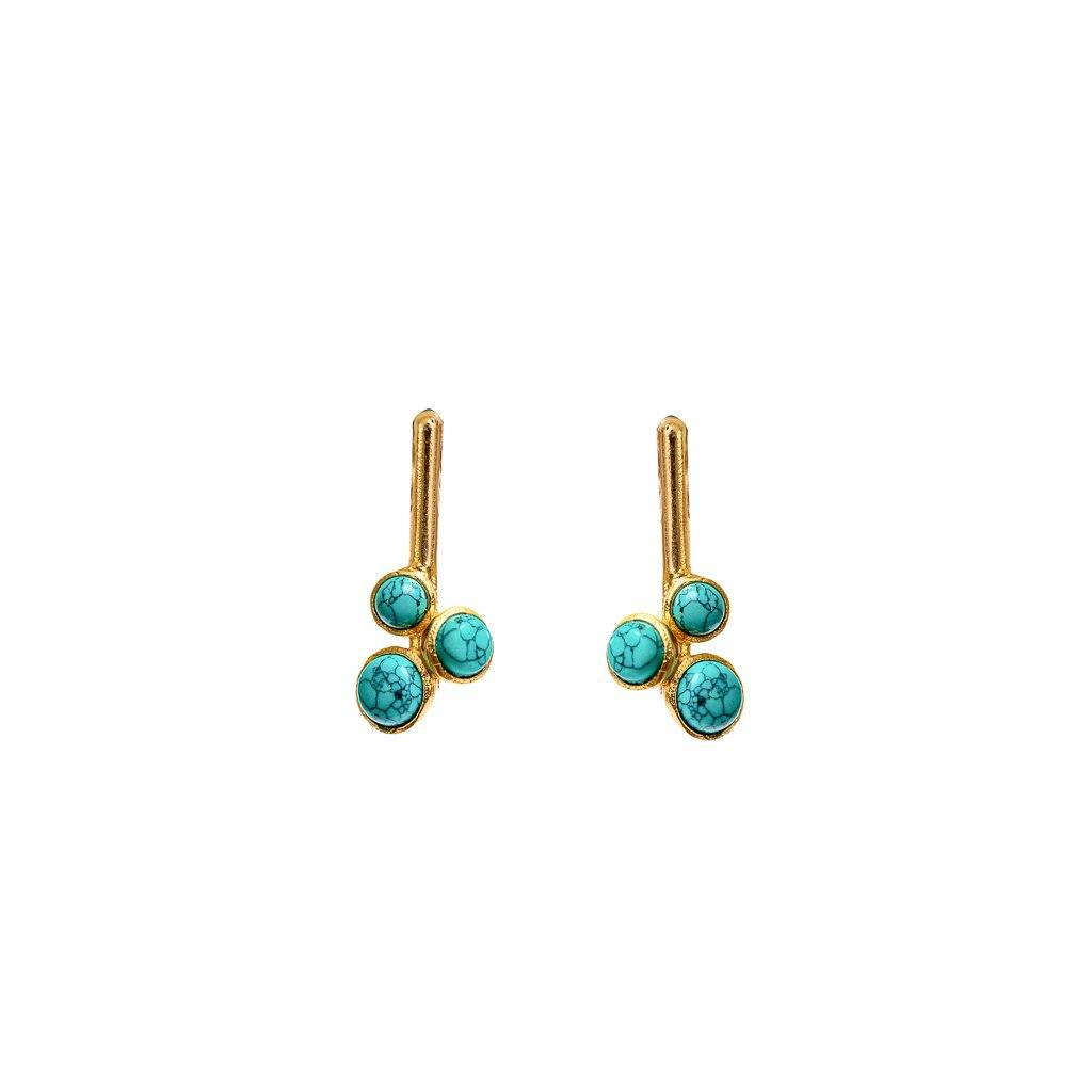 Alexas mini stud earrings in turquoise - stud