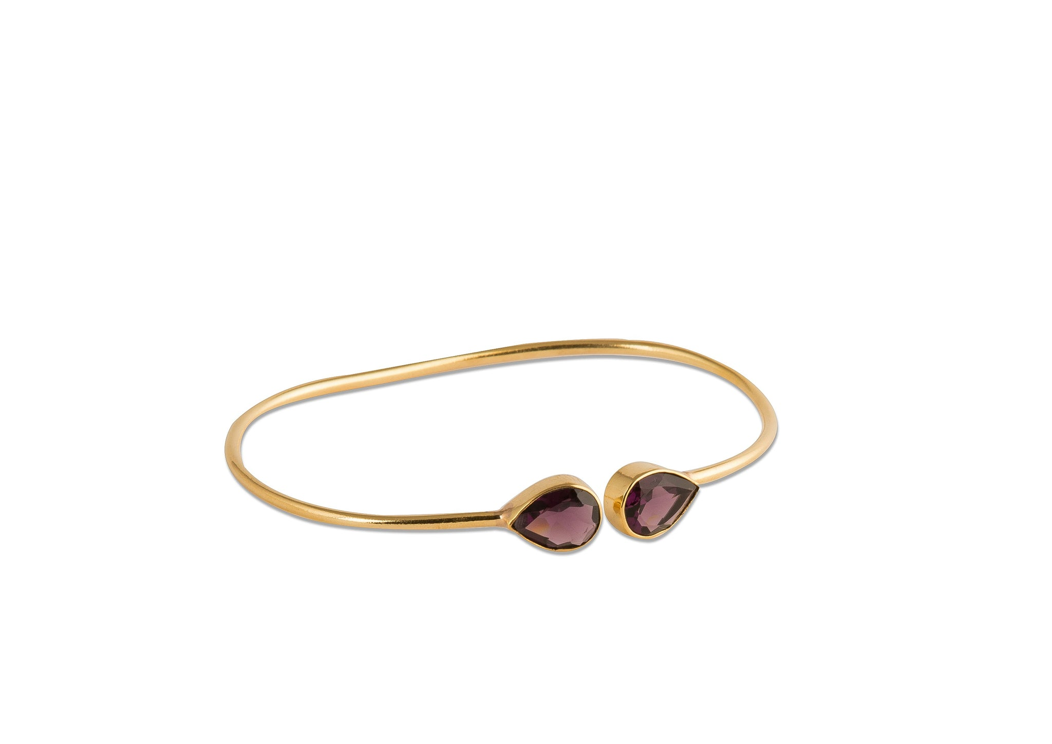 Levi gold-plated silver bracelet in amethyst