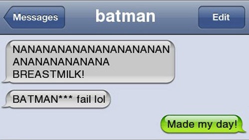 batman breastmilk autocorrect fail