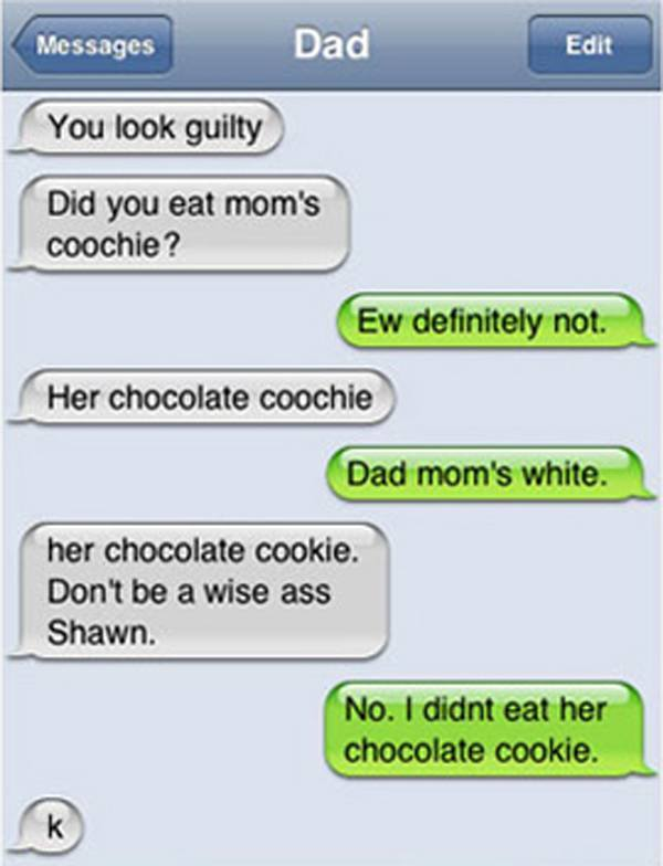 chocolate coochie autocorrect fail