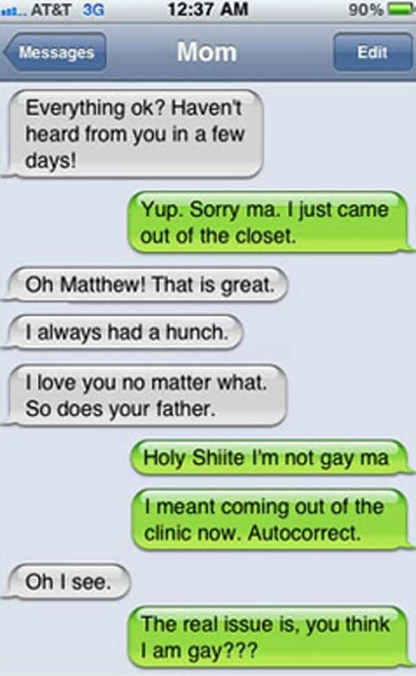 coming out gay autocorrect fail
