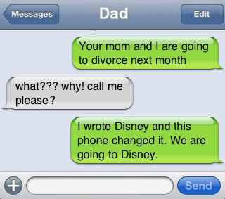 disney divorce autocorrect fail
