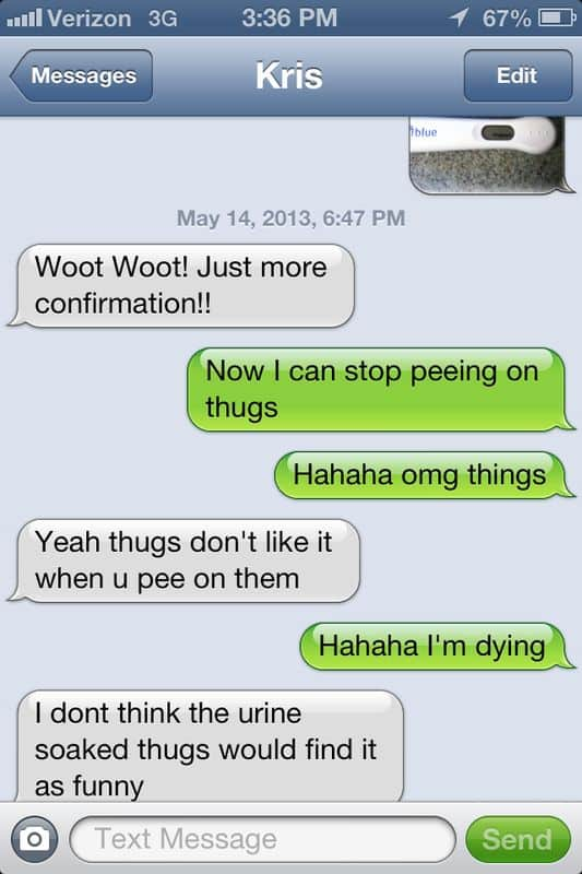 pee on thugs autocorrect fail