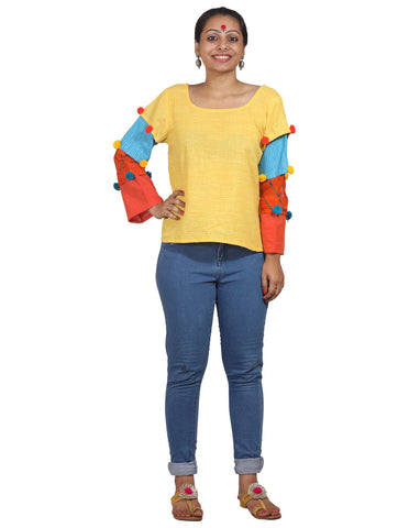 Top - 4 Color Sleeve Top - Prathaa
