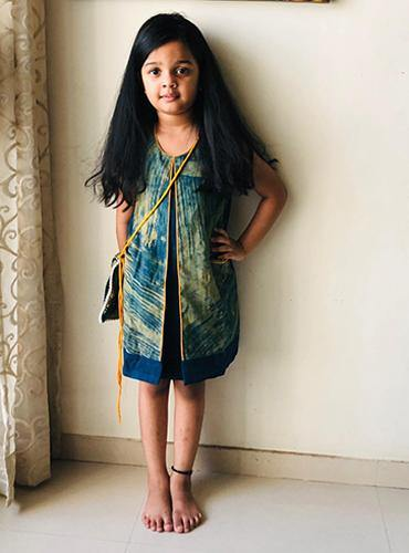 Ajrakh Kala Cotton Kids Dress