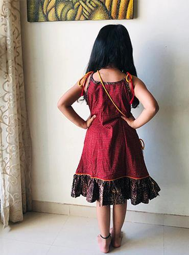 Ajrakh Kids Dress