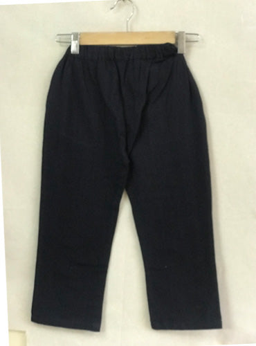 Kids Black Handloom Cotton Pants
