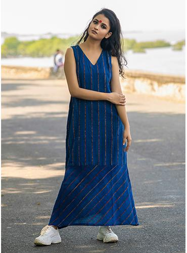 Royal Blue Khesh Maxi Dress