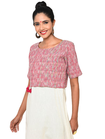 Top - Khesh Crop Top Blouse - Prathaa