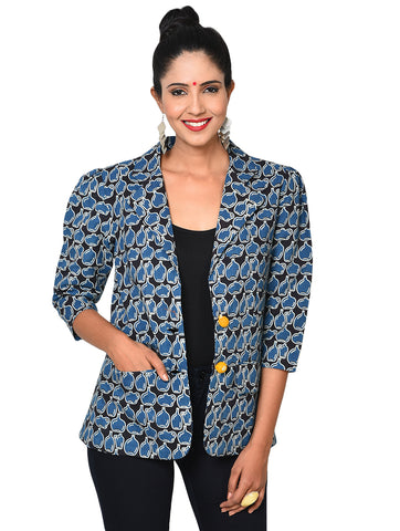 Jacket - Formal Indigo Blazer - Prathaa