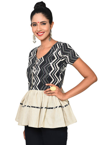Top - Peplum Shirt Top - Prathaa