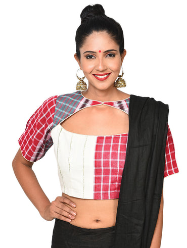 Blouse - Three panel blouse worn both ways - Prathaa