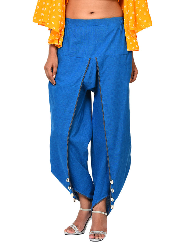 Bottom - Blue Dhoti Pants - Prathaa