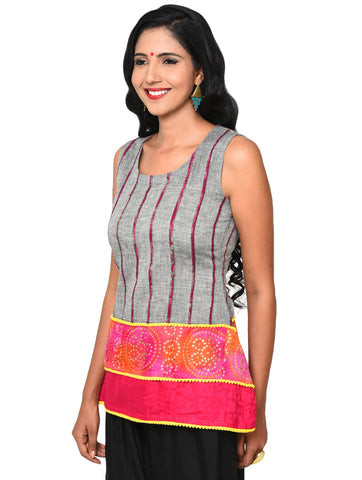Top - Three Layer Khesh Top - Prathaa