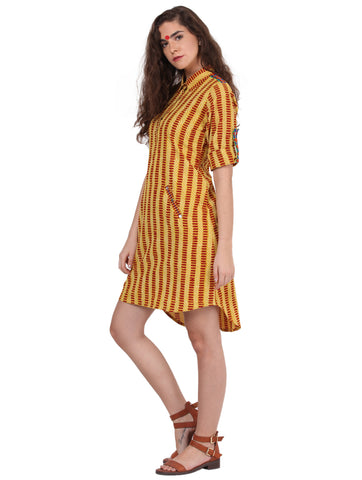 Dress - Yellow shirt dress - Prathaa