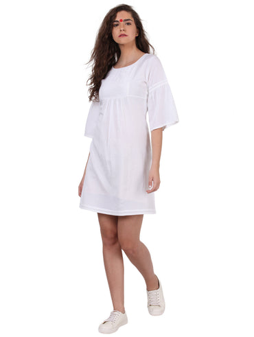 Dress - White Formal Dress - Prathaa