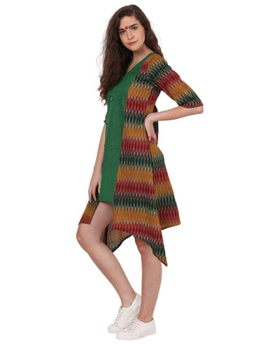 Dress - Assymetrical Ikat Dress - Prathaa