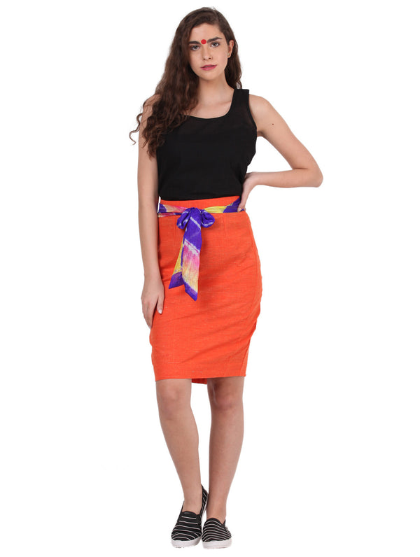 Bottom - Bow Tie Pencil Skirt - Prathaa