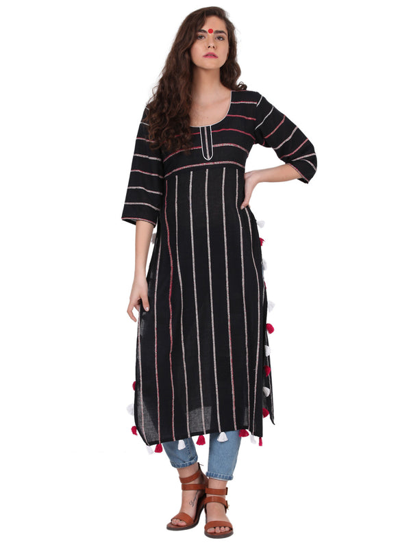 Tunic - Black Khesh Tunic - Prathaa