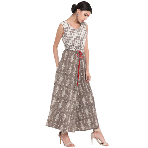 Dress - Kashish block print jumpsuit. - Prathaa