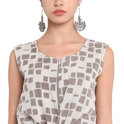 Dress - Kashish block print jumpsuit - Prathaa