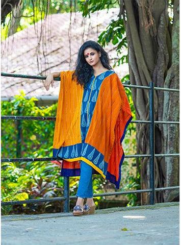Tri Color Long Kaftan