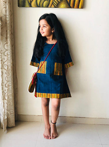 Kala Cotton - Ajrakh Kids Dress