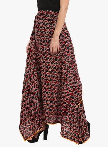 Bottom - Asymmetrical maxi matka skirt - Prathaa