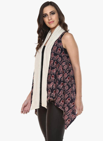 Jacket - Asymmetric Reversible Shrug - Prathaa