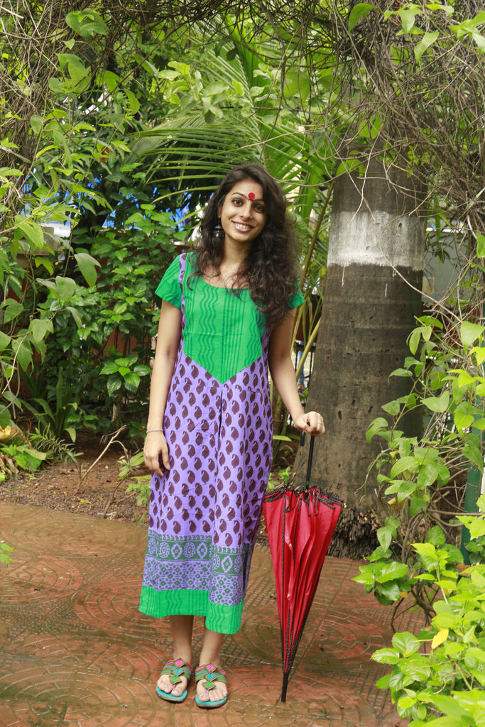 Dress - Purple Dress - Prathaa