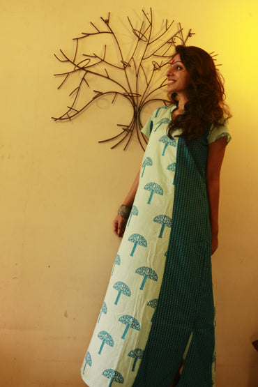Dress - Tree Print Maxi Dress - Prathaa