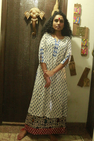Tunic - Blue & White tunic - Prathaa