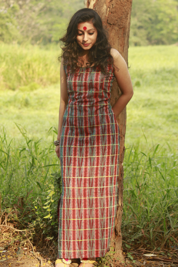 Dress - Ikat Maxi Dress - Prathaa
