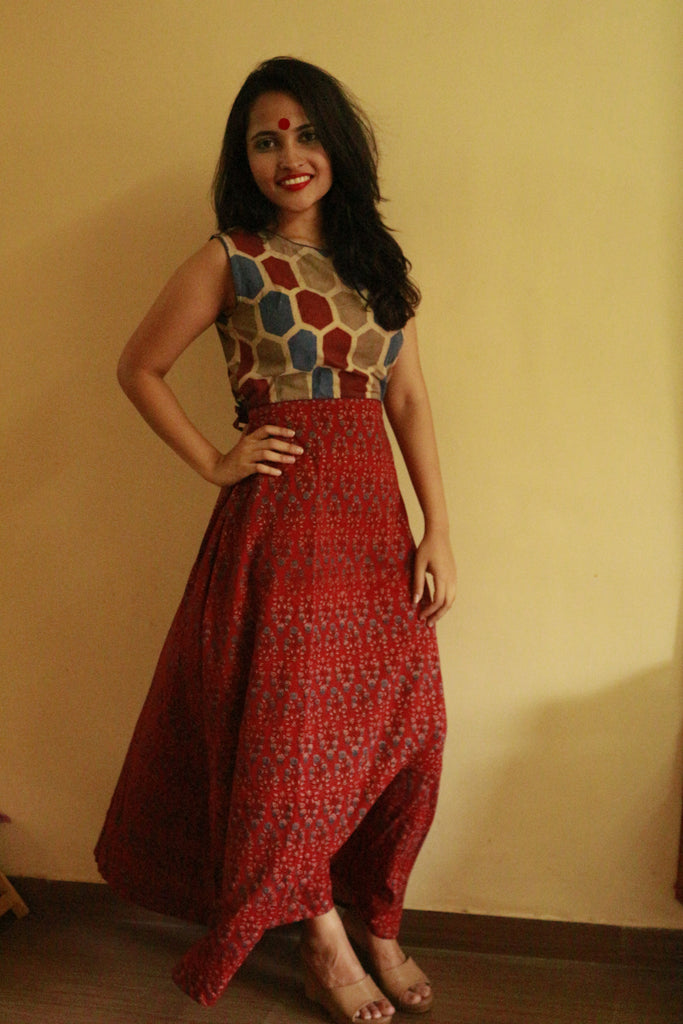 Dress - Maroon Maxi Dress - Prathaa