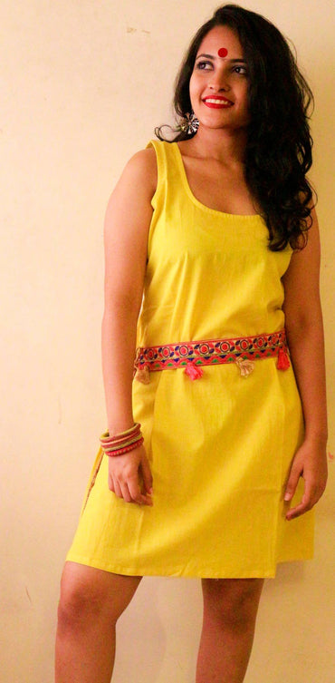 Dress - Yellow Slip Dress - Prathaa