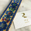 Hand Embroidered Bookmark - Roman Rose