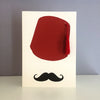 Tarboush Greeting Card - Red Tassel