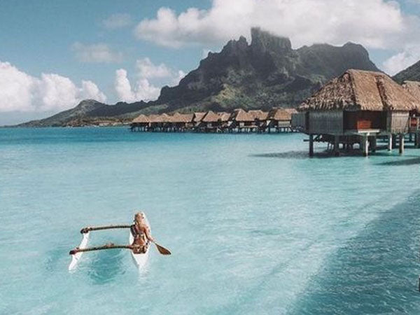 Famous for its aqua-centric luxury resorts, Society Island Bora Bora