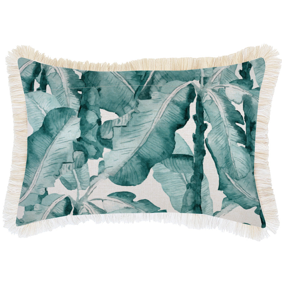 Cushion Cover-Coastal Fringe Natural-Bora Bora-35cm x 50cm