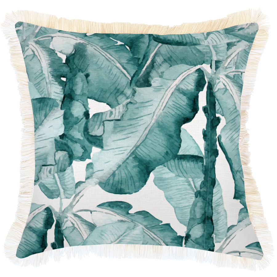 Cushion Cover-Coastal Fringe Natural-Bora Bora-45cm x 45cm