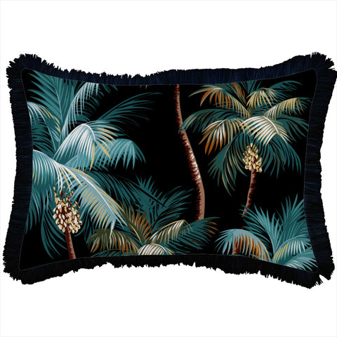 Round Cushion Cover-Palm Trees Natural-40cm x 40cm x 5cm