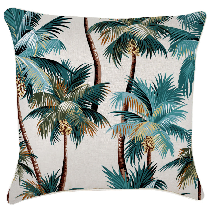 Cushion Cover-With Piping-Palm Trees Natural-60cm x 60cm