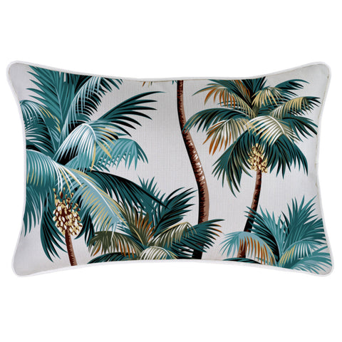 Cushion Cover-Coastal Fringe Natural-Palm Trees Natural-45cm x 45cm